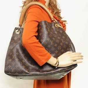Auth Louis Vuitton Artsy Mm Shoulder #1583L72